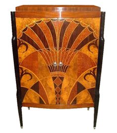 Cabinet with papyrus leaf motif.