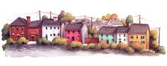 Portmagee part 1. please click onthe picture for a better view this is the right part of Portmagee. i painted it from our livingroom window in Ireland Valentia Island. I also made a sketch from the...