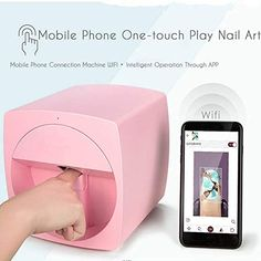Multifunction Portable Nail Art Printers Machine Transfer Picture Nails Machine - Wifi Wireless Easy All-Intelligent Nail Printers Over 800 Pictures Pink Current Fashion Trends, Latest Fashion For Women, Fashion Online, 3d Nails, Pink Nails, Nail Art Printer, Printer Price, Mobile Nails, Mobile Printer