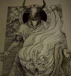 #Baal #Moloch #tophet #gehinnom #Gehennah #sacrifice #sacrifices #hecatomb #graphics #engraving #engrave   Instagram.com/Romulus_Inferno