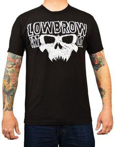 Men's Doom by Josh Stebbins Lowbrow Art Logo Skull Tattoo Art T Shirt – moodswingsonthenet