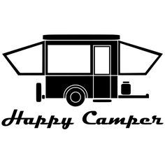 Happy Camper, Vinyl Decal. $10.00, via Etsy.#Repin By