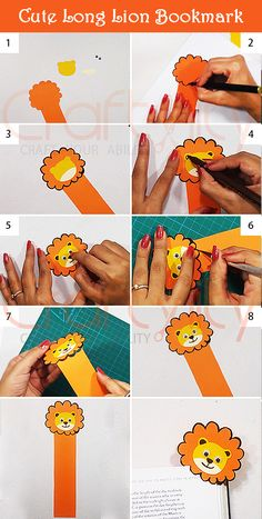 Find step by step instructions on How to make Cute Animal Lion bookmark.