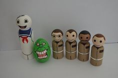 Made to OrderGhost Catcher Inspired Peg People Set by PipsEmporium