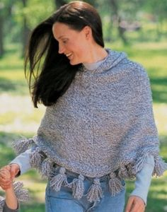 This cozy knit poncho pattern is sure to become your go-to autumn garment. A simply constructed body with a functional hood and decorative tasseled-fringe, the Favorite Fall Poncho is a must-knit for a number of reasons.