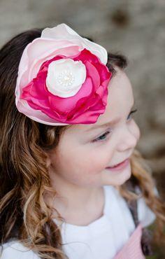 toddler headband, Flower girl headband, flower girl hair accessory, baby headband. $18.50, via Etsy.