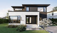 Domaine Le Gendre   Maisons à Québec Residential Architecture, Modern Architecture, Pavilion Architecture, Japanese Architecture, Sustainable Architecture, Modern Exterior, Exterior Design, Facade House, Pool Houses