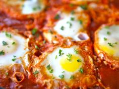 Shakshuka - Middle Eastern Egg Dish...sounds so yummy and is beautiful to look at as well.