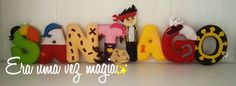 Felt Pirate Name Banner 8 letters * Baby's Room * Wall Decoration