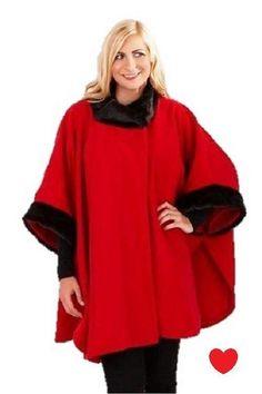 Ladies Faux Fur Fleece Poncho Cape Coat plus size 18 20 22 24 26