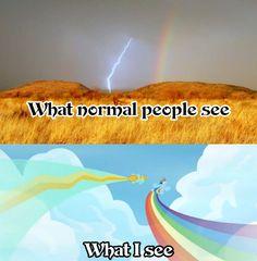 What I see is Thor striking the rainbow bridge.