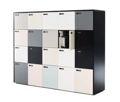 THE WALL 20 LOCKERS - Designer Cabinets from Martela ✓ all information ✓ high-resolution images ✓ CADs ✓ catalogues ✓ contact information ✓. Office Furniture, Office Decor, Furniture Design, Office Interior Design, Office Interiors, Office Storage, Locker Storage, Office Lockers, Cupboard Design