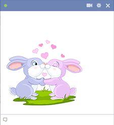 Mi annyira imádnivaló, mint ez a két szerelem-ütött nyuszik?  Ossza meg ezt a képet kedvesével, amikor legközelebb Facebook-on meglátogat.