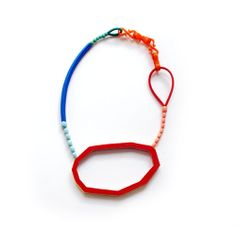 Danni Schwaag  Necklace: Hommage à e.m. 2012  Wood, paint, glass beads, artificial material - http://www.dannischwaag.de/
