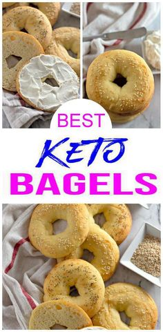 {Keto Bagels} Yummy low carb bread that is quick & easy to make.Great low carb breakfast ideas, keto snacks recipes - grab & go snack, side dish for lunch or dinner. Tasty keto recipes u will love w/ this fat head dough recipe. Keto baked goods that Keto Bagels, Low Carb Bagels, Keto Pancakes, Gluten Free Bagels, Low Carb Breakfast, Breakfast Recipes, Breakfast Ideas, Breakfast Gravy, Breakfast Hash