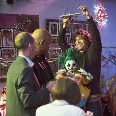 Deeks w/clown marionette from Fighting Shadows.