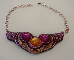 Collar Embroidery (vendido) Bead Embroidery necklace