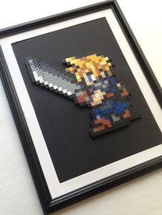 Final Fantasy 7  Cloud Strife Framed Art by JustALevel on Etsy