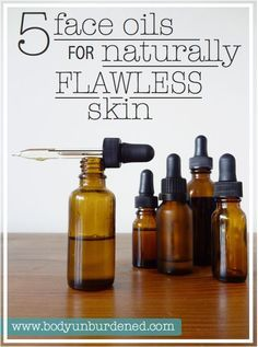 These 5 face oils for naturally clear flawless skin will transform your skin and beauty routine! Natural homemade DIY beauty.