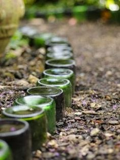 There are SO many great gardening ideas on Pinterest!       I've got the urge to try 2 of them in my backyard garden:   - a spiral, bottle-...
