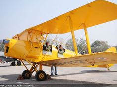 Neil Davidson, pilot, is often found at the old Kimberley, BC grass airstrio, offering Tiger Moth rides for donations to the Stephen Lewis Foundation.