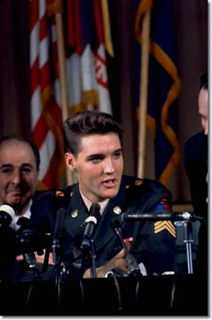 Sergeant Elvis Presley, Press Conference. -  Discharge from the army March 1960