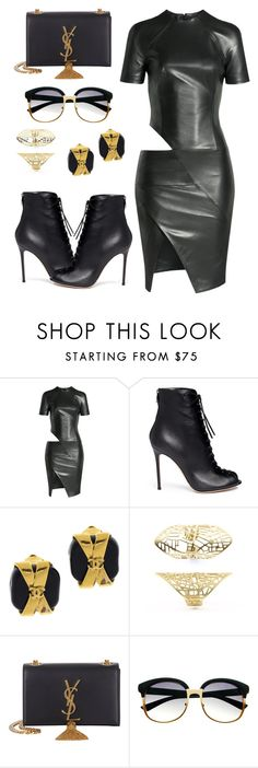 """Pie"" by tekla-476 ❤ liked on Polyvore featuring Alexandre Vauthier, Gianvito Rossi, Chanel, Yves Saint Laurent and Retrò"