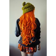 * ORANGE in My World ❤ liked on Polyvore featuring hair