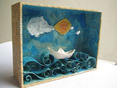 Making a ocean diorama is a fun way to learn about life in the sea. These under the sea dioramas are fun to make and look great. Projects For Kids, Diy For Kids, Crafts For Kids, Arts And Crafts, 3d Art Projects, School Projects, Shadow Box Kunst, Shadow Box Art, Ocean Diorama