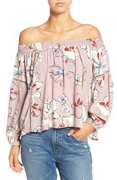 ASTR 'Ana' Off the Shoulder Top available at #Nordstrom