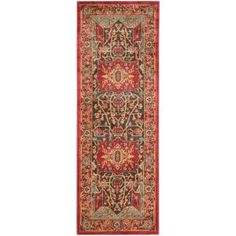 Safavieh Mahal X Runner Synthetic Power Loomed Traditional Area Red / Red Home Decor Rugs Runners