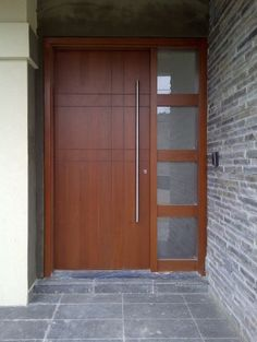 Wood & glass front door