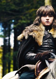 'Bran Stark adopted the direwolf Summer and they have forged a strong connection. He is able to see through the direwolf's eyes while he sleeps, as Bran is a Warg: a person who possesses the magical ability to enter the minds of animals. Bran is also blessed with the magical power of greensight, which gives him prophetic visions in his dreams.'