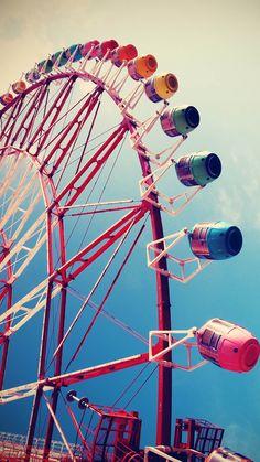 City Ferris Wheel #iPhone #6 #Wallpaper