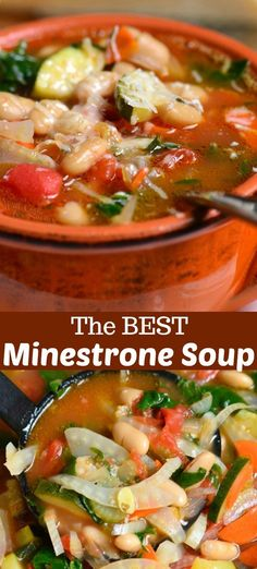 Minestrone Soup Minestrone Soup Healthy soup loaded with vegetables and it is amazingly flavorful One special ingredient makes this soup amazing Easy Soup Recipes, Chili Recipes, Great Recipes, Dinner Recipes, Cooking Recipes, Favorite Recipes, Healthy Recipes, Coffe Recipes, Cooking Tips