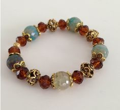 On sale for $15 today only http://www.tvictoria.com/collections/bracelets/products/brown-crystal-jasper-bracelet #sale #jewelry