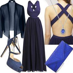 Blue Fleur  #fashion #mode #look #style #trend #outfit #sexy