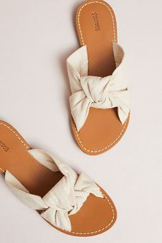 knotted slide sandal for spring