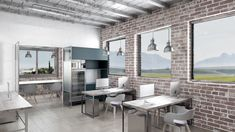Industrial Office Design for a client in the Netherlands Industrial Office Design, Netherlands, Conference Room, Dining Table, Behance, Gallery, Furniture, Home Decor, Blue Prints