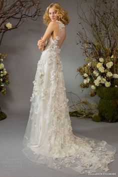 elizabeth fillmore bridal fall 2014 palace garden wedding dress back train