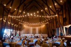Twinkle lights! Chicago Barn Wedding | Wedding Guide Chicago |  Rebecca Marie Photography