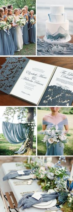 Dusty blue wedding p...
