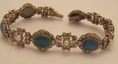 black opal' cultured pearl & diamond bracelet