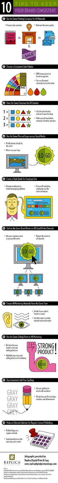 10 Tips to Keep Your Brand Consistent