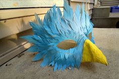 Azure Bird Mask by nowiwalkinbeauty on Etsy, $40.00