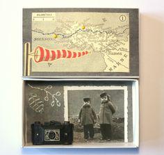 Art box:petit diorama réalisé dans une boîte d'allumettes