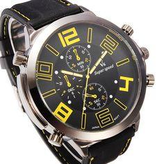 Analog Watch - V6 Quartz Sport Big Dial Fashion Casual Wrist Watch #V6 #SportsFashionCasual