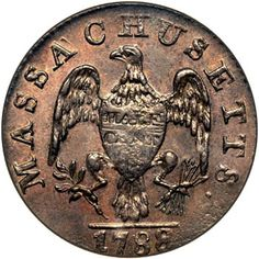 The coinage of Massachusetts copper cents and half cents in 1787 and 1788 was under the direction of Joshua Witherle. Description from coinfacts.com. I searched for this on bing.com/images