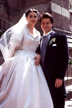 Wife and husband, Rena and Wally Kurth on their wedding date.