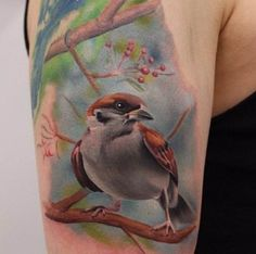 Bird Tattoo 3D   #Tattoo, #Tattooed, #Tattoos